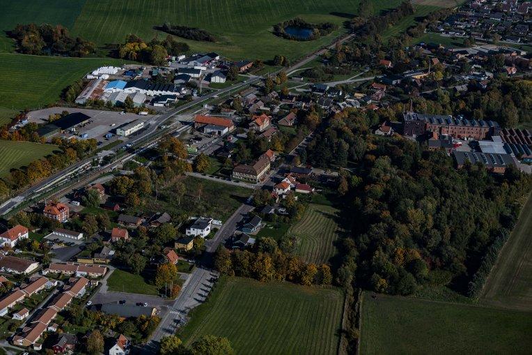Flygfoto över Marieholm