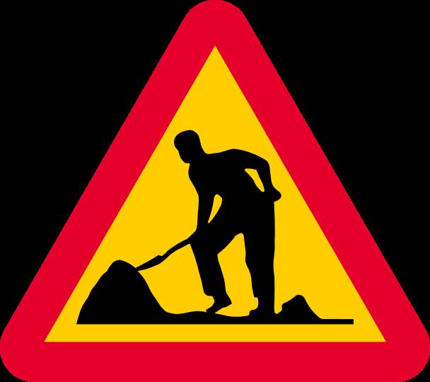 Varning för vägarbete - skylt A20
