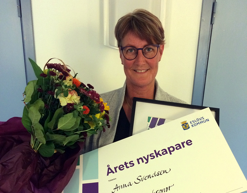 Anna Svendsen är Årets nyskapare i Eslövs kommun