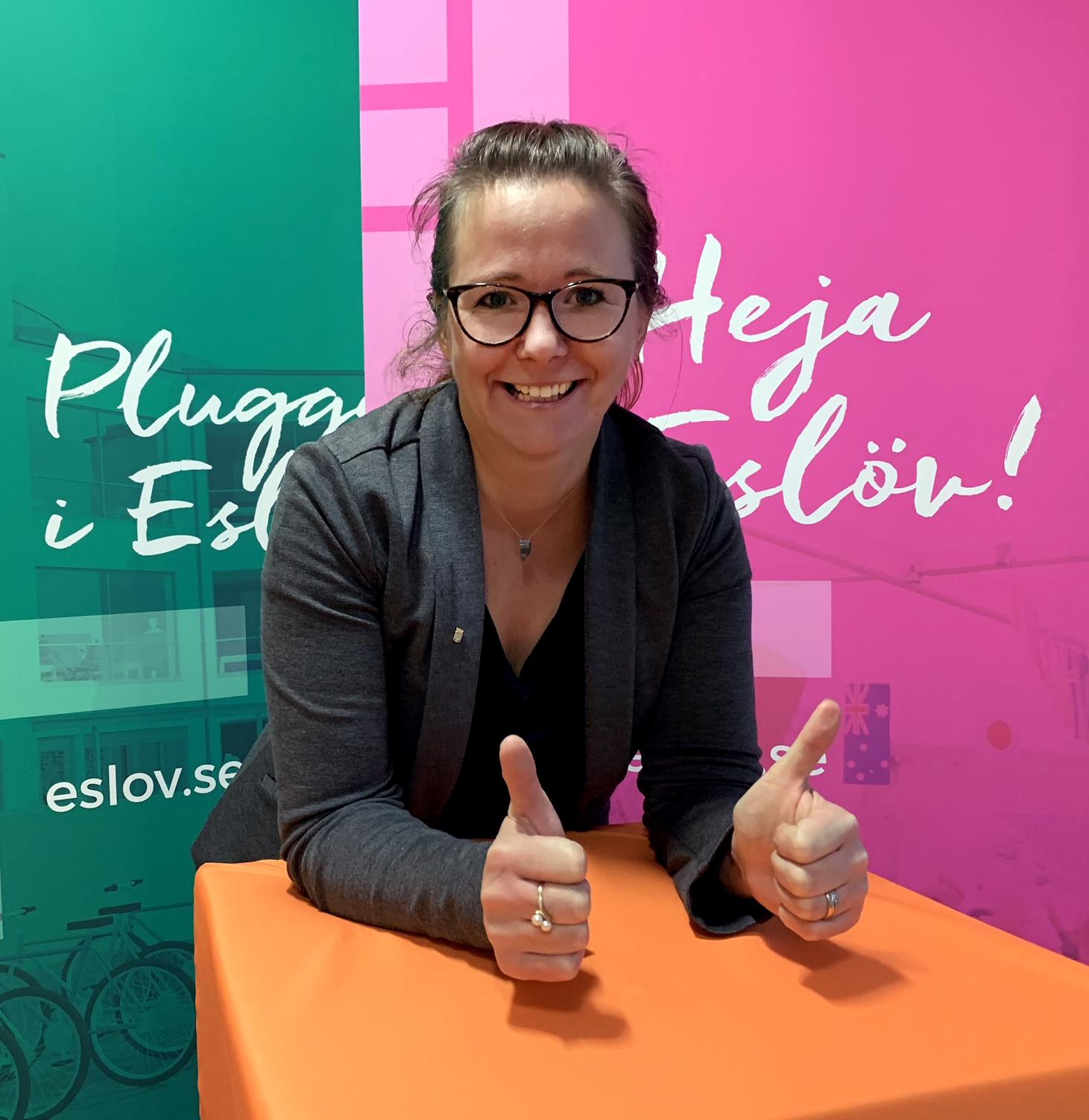Anna Nordén Eslövs mycket nöjda HR-chef.