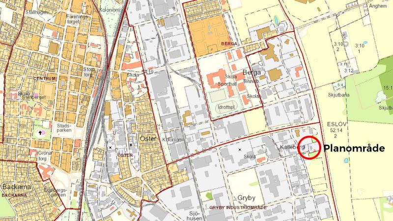Avbitaren 2 och 3 i Eslöv, detaljplan