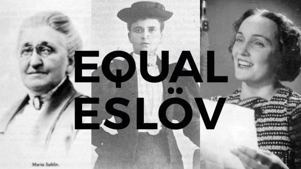 Bildcollage av kvinnor ur Eslövs historia