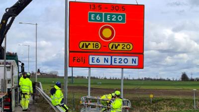 E6/E20 stängs 13–30 maj – räkna med stora trafikstörningar