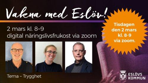 Vakna med Eslöv – digital näringslivsfrukost 2 mars kl. 8–9