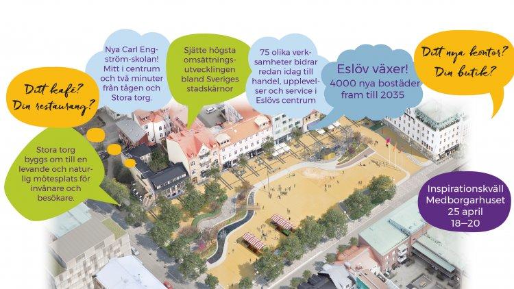 Vill du starta verksamhet i Eslövs stadskärna?