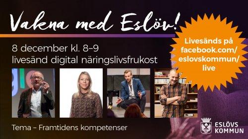 Vakna med Eslöv – digital näringslivsfrukost 8 december