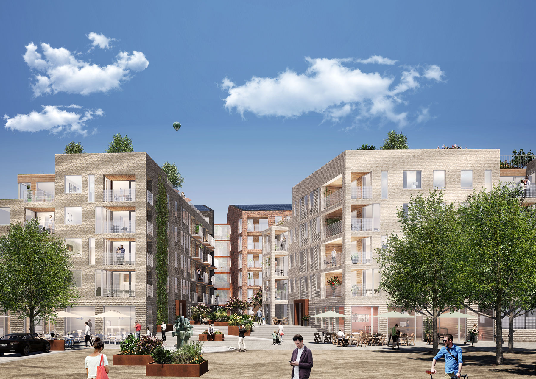 80 nya bostadsrätter och 32 seniorlägenheter blir det på Föreningstorget