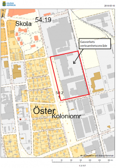 Karta över provtagningsområde.