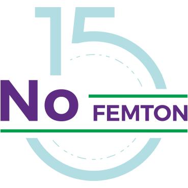 Loggan för restaurang no 15; text med No FEMTON som ligger över en stor siffra 15.