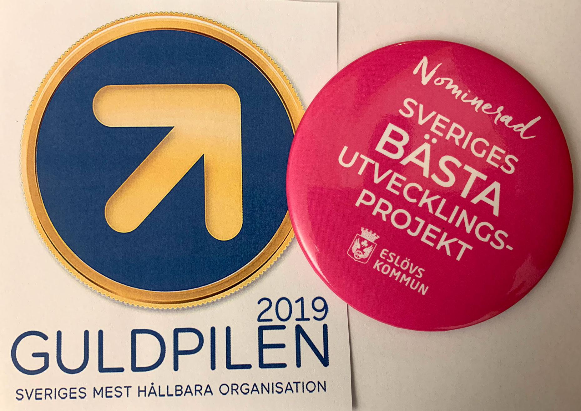 Eslövs kommun är nominerad till både Guldpilen och Götapriset