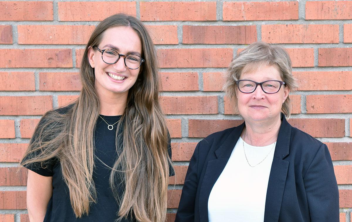 Matilda Suneson är planarkitekt och Susanne Hultman GIS-samordnare i Eslövs kommun