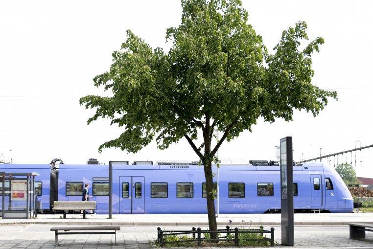 Pågatåg vid stationen i Eslöv.