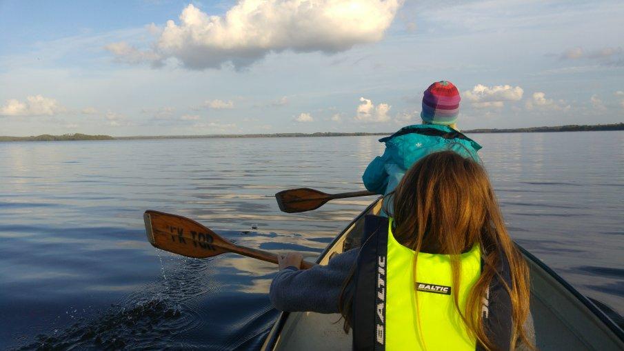 Paddling på Ringsjön