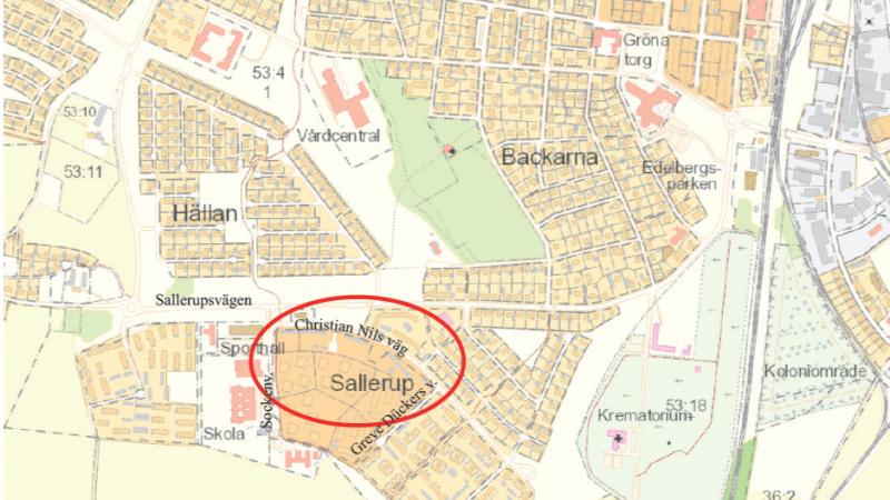 Fastigheten Drottningen S:1 i Eslöv, detaljplan