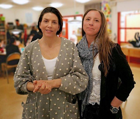 Jessica Cederborg är förskollärare och Sabina Djupenström SFI-lärare. Tillsammans jobbar de med språkutveckling på öppna förskolan.