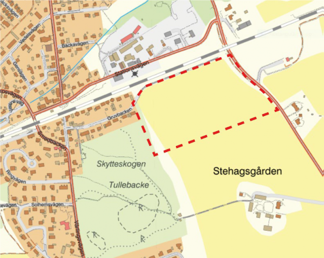 Orienteringskarta över Stehag