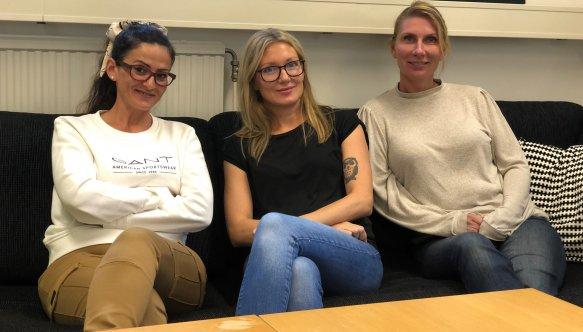 Emine Gonzalez, Emma Natt och Dag och Sandra Nylander är kontaktpersoner för Ung kompetens Eslöv.